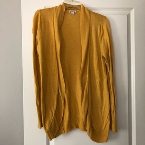 Mustard yellow cardigan sweater Preowned
