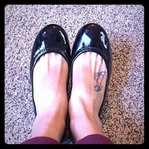 Used and worn Tory flats size 7 1/2