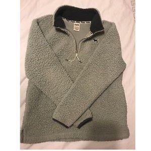 Vs pink grey Sherpa half zip