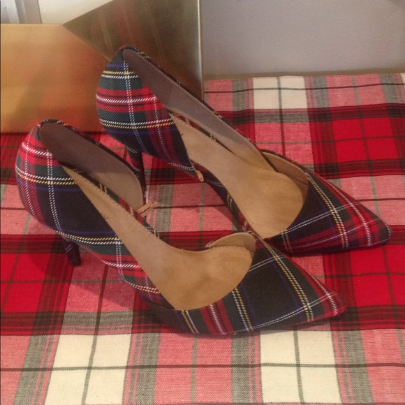 Old Navy Shoes | Plaid Heels Great For