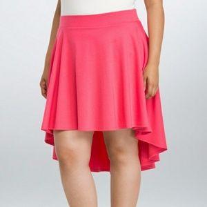 Torrid Coral/Peach High Low Elastic Waist Skirt
