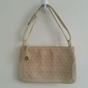 Vintage tan  signature Dooney and Bourke mini bag