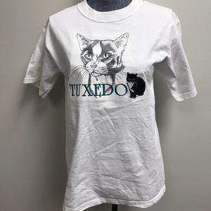 Vintage Gr8 Dogs Tuxedo Cat T shirt