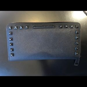 Black studded Rebecca Minkoff wallet