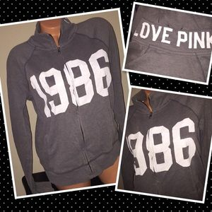 VS PINK Full zip crew MEDIUM sweatshirt