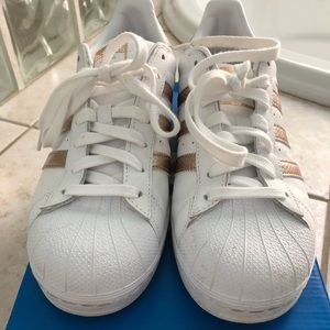 Adidas Superstar Sneakers with Rose Gold