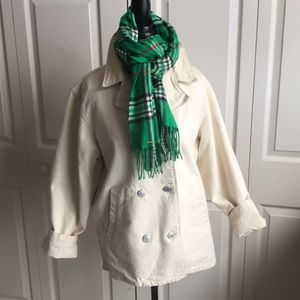 GAP cotton peacoat jacket size M cream