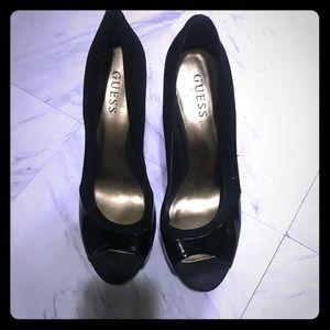 High open toe heels
