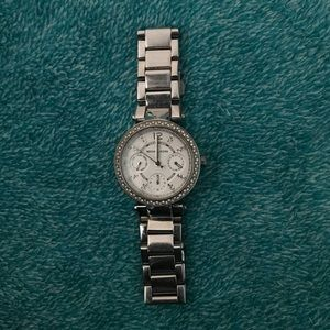 Michael Kors Mini-Parker Silver Watch