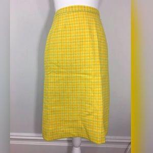Vintage 1950s wool pencil skirt