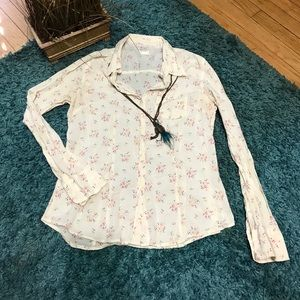 💟 AMERICAN EAGLE OUTFITTERS Floral Print Shirt