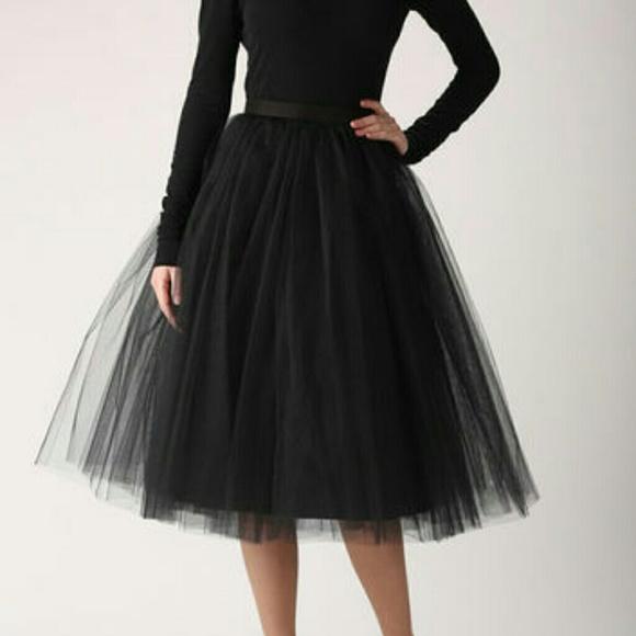 ktoo skirts   black tulle skirt   poshmark