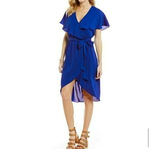 Gianni Bini Royal Blue Wrap Dress Size L