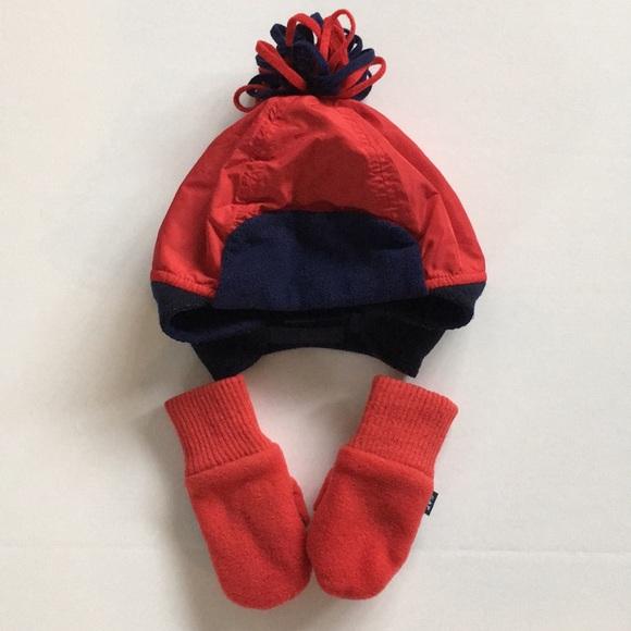 Baby Gap Fleece Hat   Mittens 7bbeb0cf540