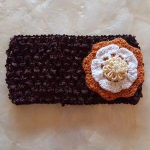 Other - stretchy baby/child's headband crochet flowers