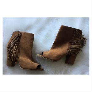 DV Dolce Vita Leather Shoe Boots Ankle Fringe