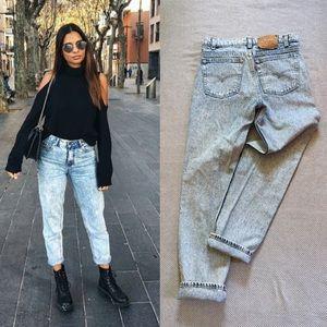 Vintage Levi's acid wash high waist jeans
