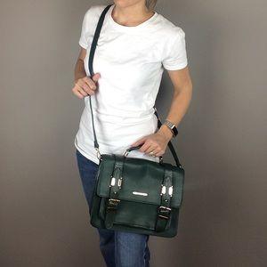 River Island green structured satchel backpack bag