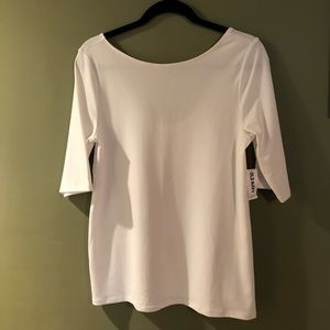 Ballet Style white Old Navy top