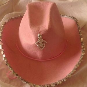 Pink cowboy hat size large$12 plus free gift