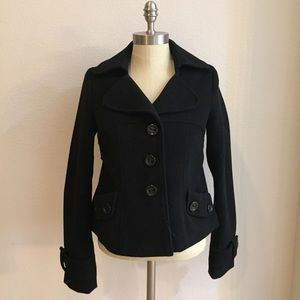 Forever 21 black cropped peacoat