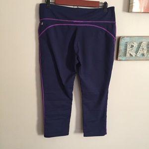 Fabletics Purple Capri Leggings
