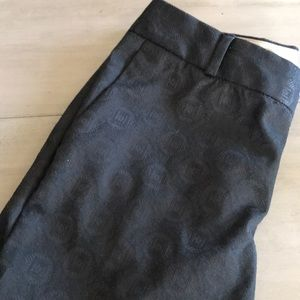 Banana Republic Black Patterned Pant