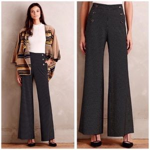 Anthro Elevenses Kingsland wide leg sailor pants