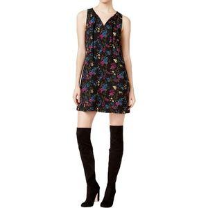 Kensie Floral-Print Shift Dress Deep Ocean Combo