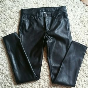 H&M: leather pants
