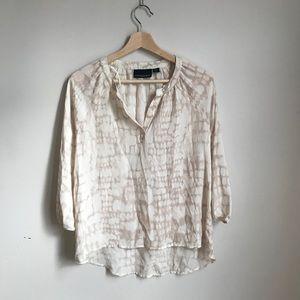 Sheer pattern blouse