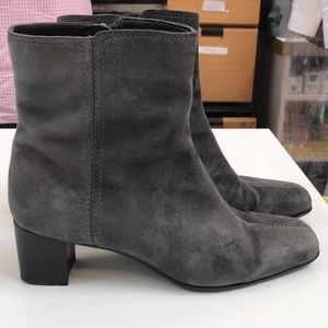 Real leather/suede ankle boots 8 1/2