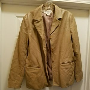 Jones New York leather blazer (size 14)
