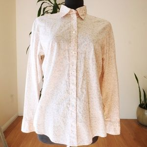 GAP Pink Floral Button Down