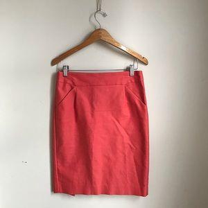 J. Crew coral pencil skirt