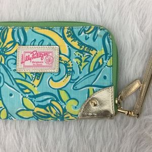 Lilly Pulitzer Delta Dolphin Print Phone Clutch