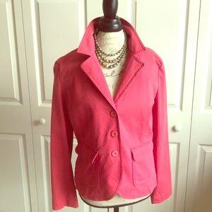 Talbots Cotton blend blazer size 12 NWT