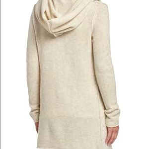 Vince sophie open wool based cardigan with hood