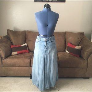 Tommy Hilfiger Maxi Denim Skirt Light Wash Size 4