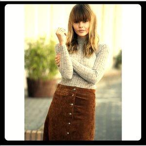 "Brown, "" Vintage "" faux suede pencil skirt 🎁"