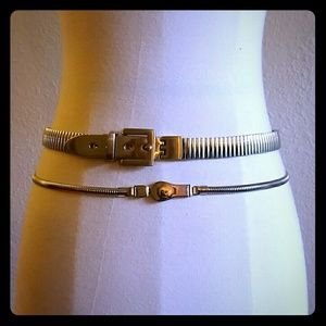 Accessories - VINTAGE Gold and Silver metal belts