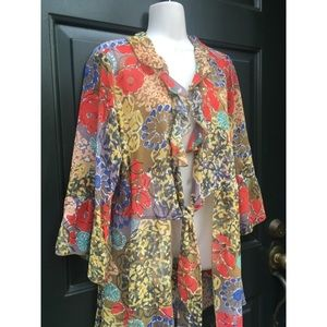 ✨ Amazing Vintage Colorful Sheer Kimono/Cardigan
