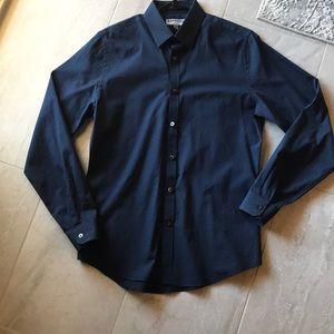 Express Print Dress Shirt Sz M 15-15 1/2 NWOT