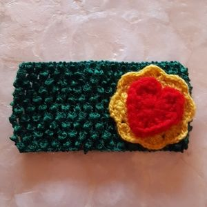 Other - stretchy baby/child's headband crochet heart