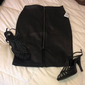 Faux Leather Pencil Skirt NWT