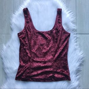 Victoria's Secret Vintage Crushed Velvet Tank Top