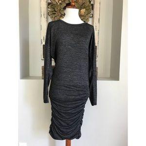 Atheleta Tulip Dark Grey Rouched Dress