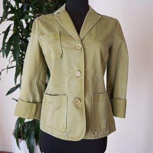 GAP Light Olive Green Thick Cotton Blazer