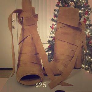 ALDO Suede Heels - camel color