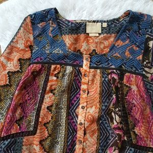 Anthropologie Tops - Anthropologie Bold Printed Button Down Blouse